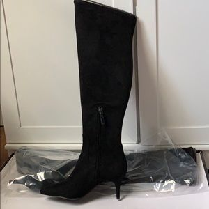 Nine West Women's Marcia Black suede boots